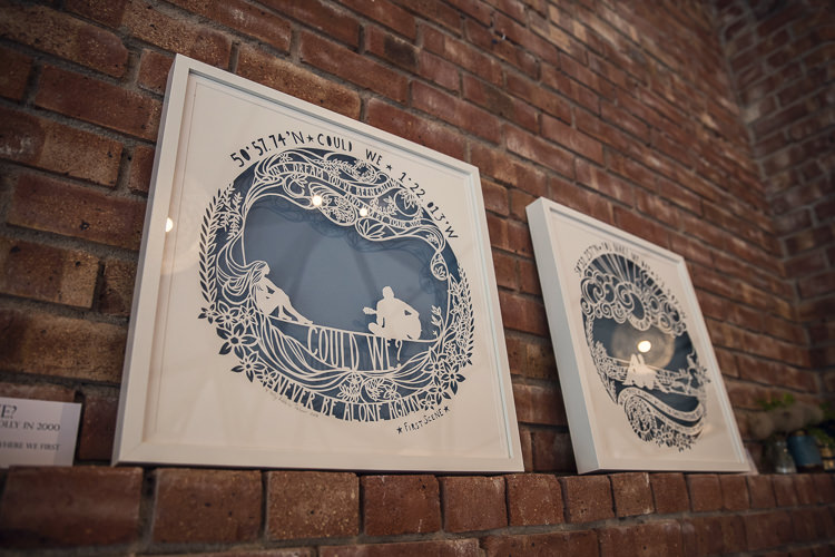 Paper Cut Art Work Heartfelt Celestial Handmade Wedding http://assassynation.co.uk/