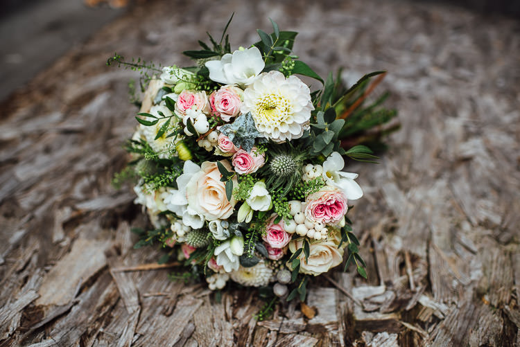 Bride Bridal Bouquet Rose Posy Chic Relaxed London Pub Wedding https://theshannons.photography/