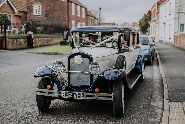 Classic Car Transport Twinkly Rustic Winter Wonderland Wedding https://www.kazooieloki.co.uk/