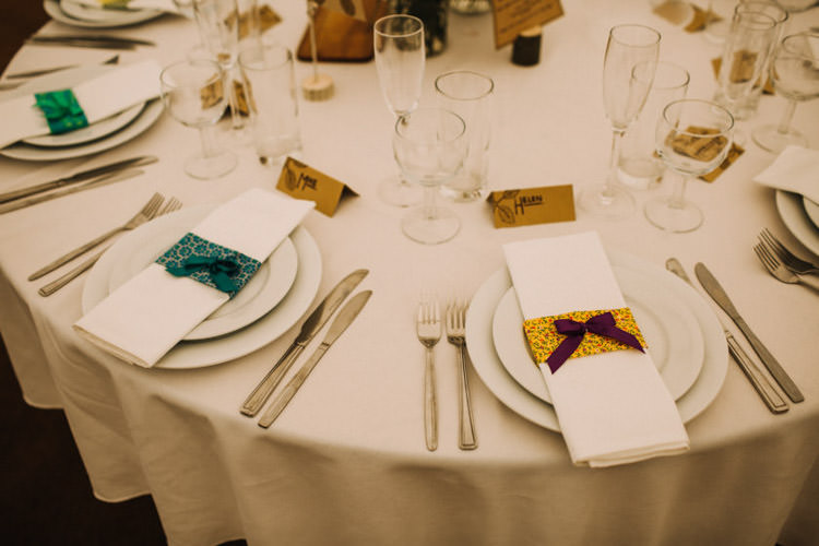 Floral Napkins Bows Joyful Homespun Humanist Farm Camping Wedding https://aniaames.co.uk/