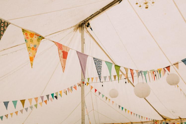Bunting Lanterns Joyful Homespun Humanist Farm Camping Wedding https://aniaames.co.uk/