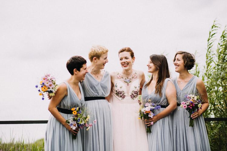 Bridesmaid Dresses Pale Blue ASOS Joyful Homespun Humanist Farm Camping Wedding https://aniaames.co.uk/