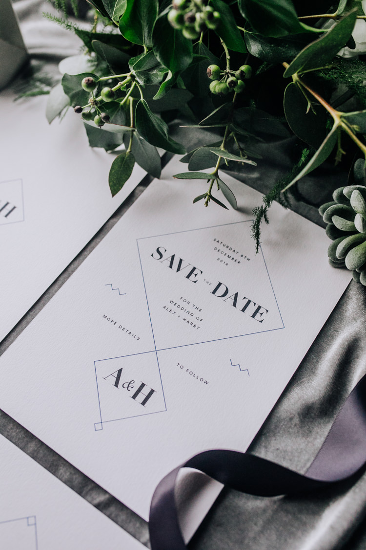 Modern Stationery Invites Invitations Ocean Clifftop Elopement Wedding Ideas North Wales https://www.claracooperphotography.com/