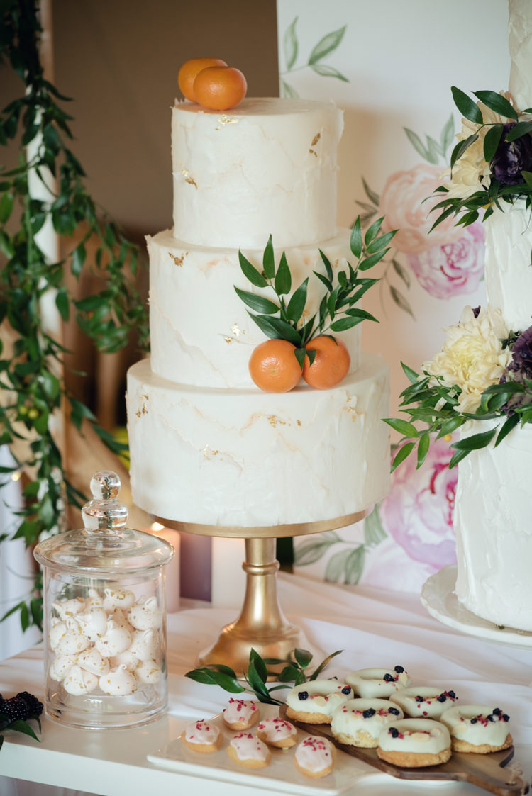 Buttercream Cake Gold Clementines Pretty Blush Floral Tipi Wedding Ideas https://www.sarahvivienne.co.uk/