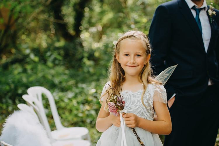 Flowergirl Wings Wand Monsoon Magical Woodland Family Wedding http://photographybyclare.co.uk/