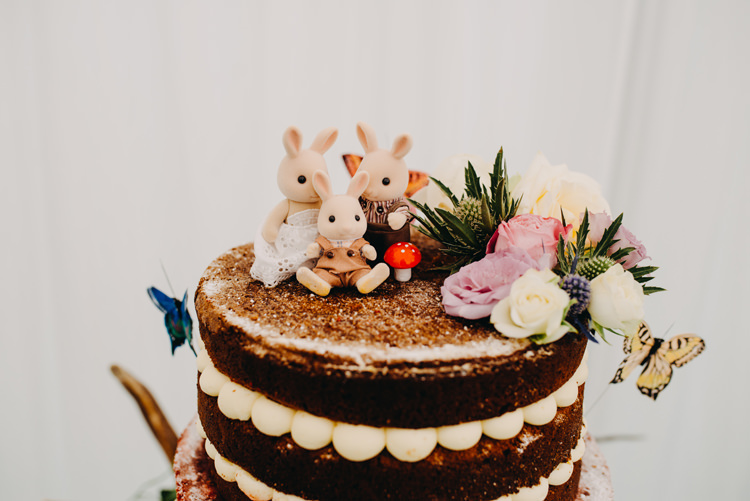 Naked Cake Topper Sylvanian Families Floral Magical Woodland Family Wedding http://photographybyclare.co.uk/
