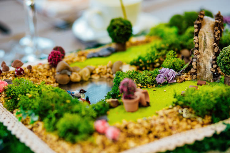 Micro Garden Miniature Table Centre Details Boho DIY Secret Garden Wedding https://bibandtuckerphotography.co.uk/