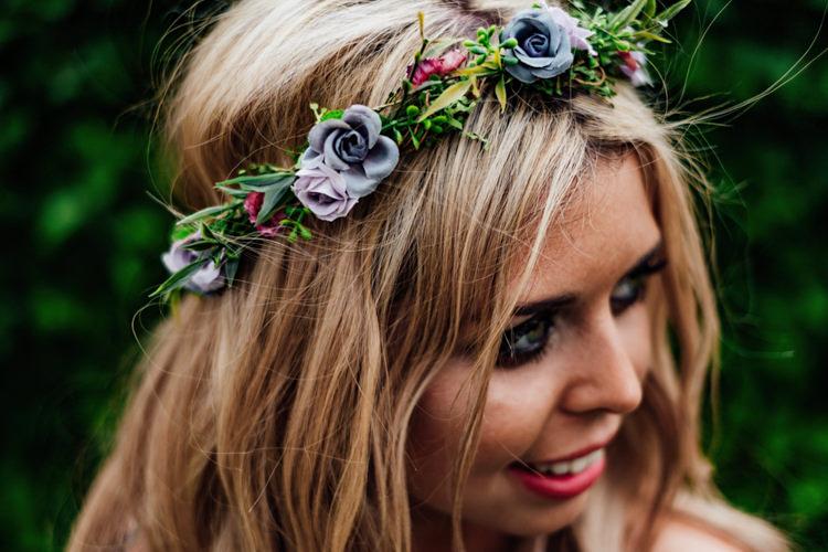 Floral Crown Flowers Bride Bridal Boho DIY Secret Garden Wedding https://bibandtuckerphotography.co.uk/