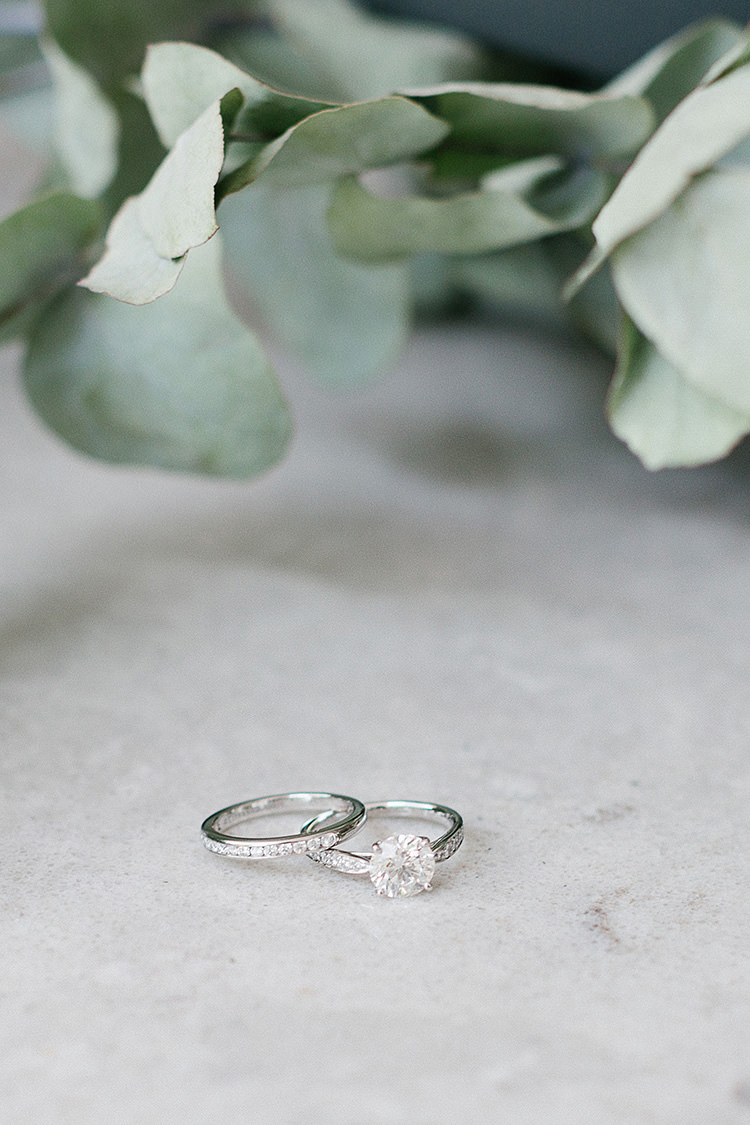 Rings Bands Diamond Princess Understated Elegance Greenery Natural Wedding Gaynes Park Essex http://ilariapetrucci.co.uk/