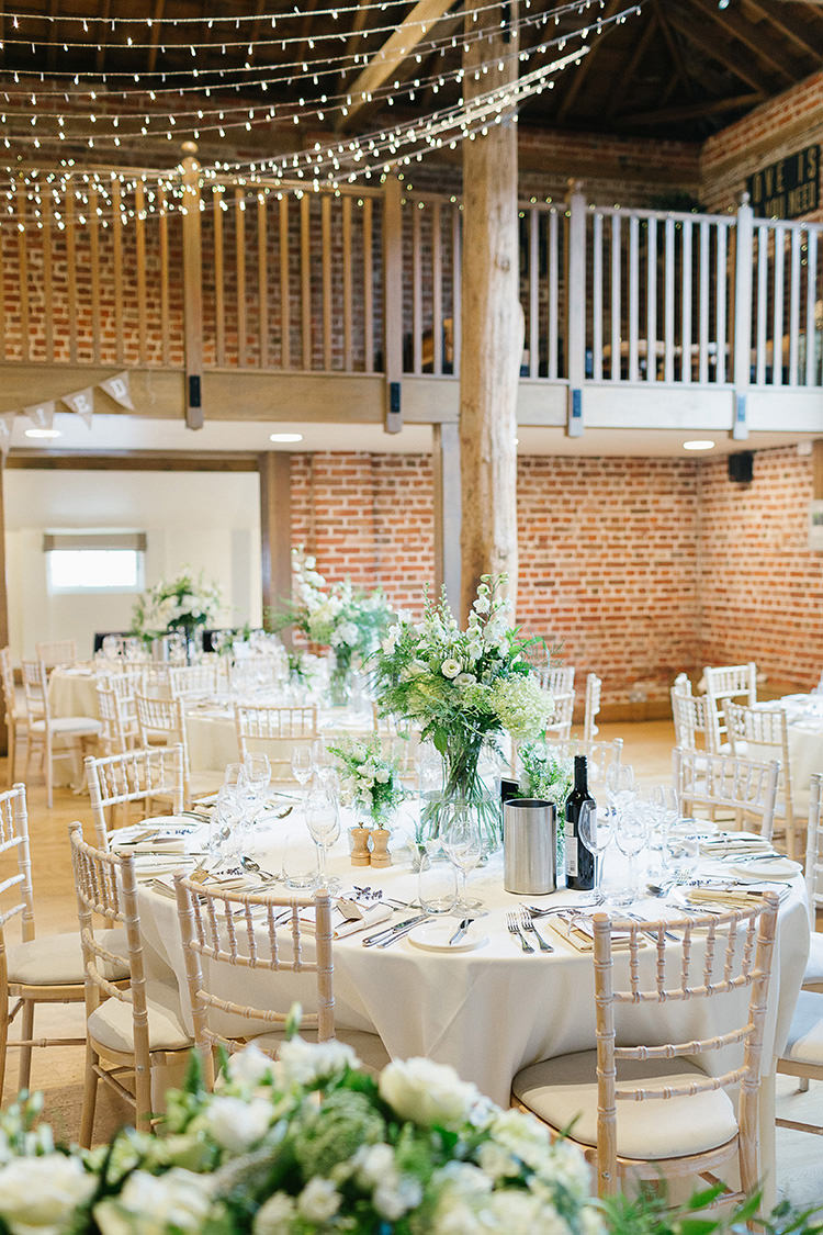 Barn Fairy Lights White Green Decor Understated Elegance Greenery Natural Wedding Gaynes Park Essex http://ilariapetrucci.co.uk/