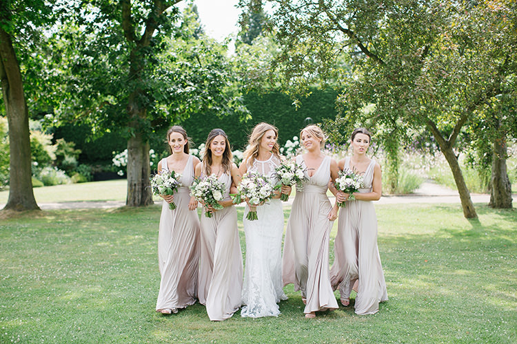 Nude Bridesmaid Dresses Long Maxi Understated Elegance Greenery Natural Wedding Gaynes Park Essex http://ilariapetrucci.co.uk/