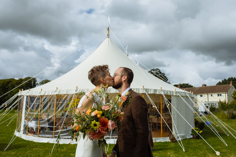 DIY Bride Groom Yellow Wildflower Marquee Tipi Seasonal Alternative Hippy Farm Field Garden Wedding | Homegrown Community Eclectic Rural Yorkshire Wedding https://toastofleeds.co.uk/