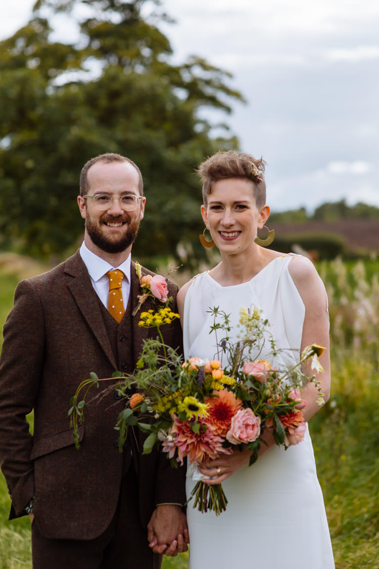DIY Bride Groom Seasonal Wildflowers Tweed Alternative Hippy Garden Wedding | Homegrown Community Eclectic Rural Yorkshire Wedding https://toastofleeds.co.uk/