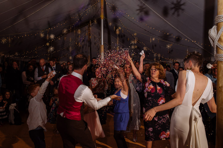 DIY Bride Groom Dance Marquee Confetti Tipi Alternative Hippy Forest Farm Field Garden Wedding | Homegrown Community Eclectic Rural Yorkshire Wedding https://toastofleeds.co.uk/