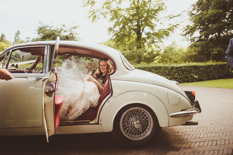 Classic Car Transport Rustic Relaxed Woodsy Alnwick Treehouse Northumberland Wedding http://www.mattpenberthy.com/