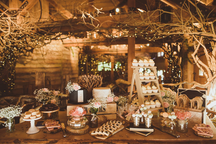 Cake Dessert Table Treats Rustic Relaxed Woodsy Alnwick Treehouse Northumberland Wedding http://www.mattpenberthy.com/