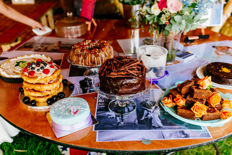 Cake Bake Off Contest Table Bright Fun Festival Boho Wedding The Party Field East Sussex http://epiclovestory.co.uk/