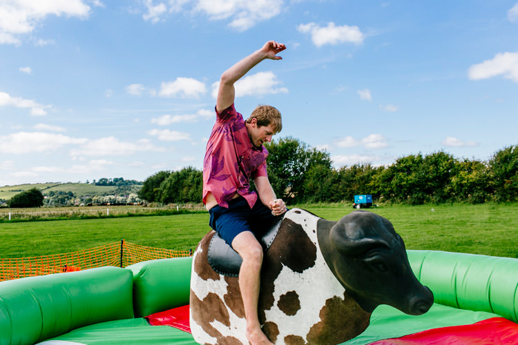 Bucking Bronco Bright Fun Festival Boho Wedding The Party Field East Sussex http://epiclovestory.co.uk/