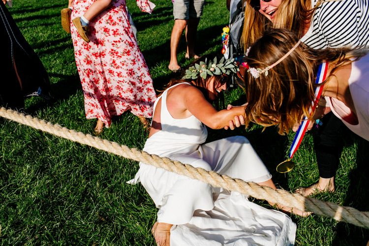 Tug of War Game Entertainment Bright Fun Festival Boho Wedding The Party Field East Sussex http://epiclovestory.co.uk/