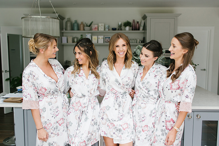 Floral Dressing Gowns Bride Bridesmaid Understated Elegance Greenery Natural Wedding Gaynes Park Essex http://ilariapetrucci.co.uk/