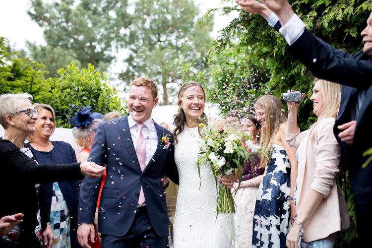 Confetti Throw Modern Simple Colourful Garden Wedding http://www.helencawte.com/