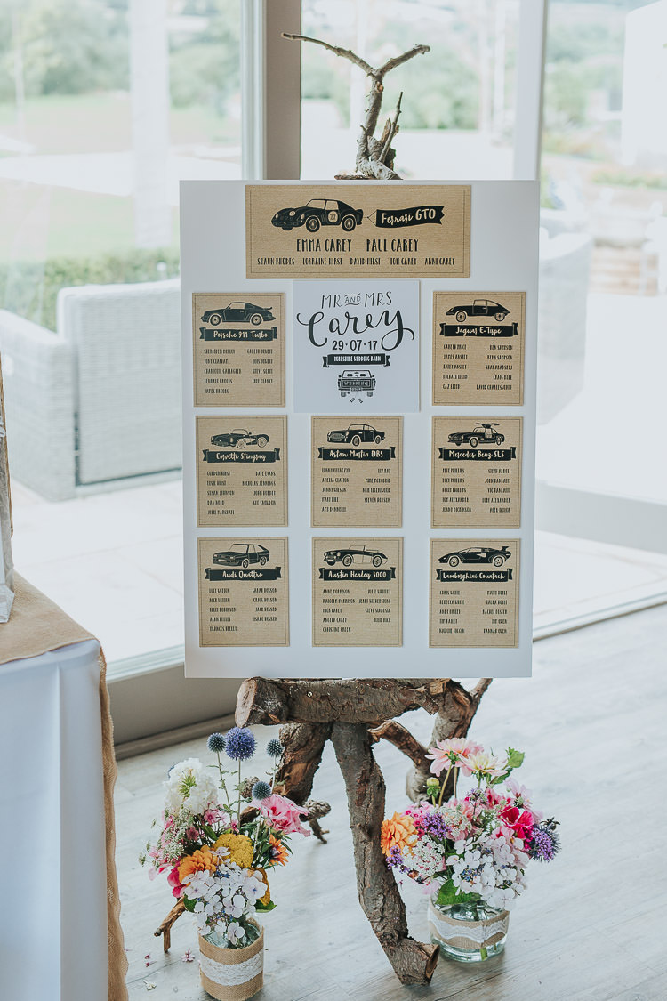 Car Seating Plan Table Chart Non-Traditional Country Party Barn Wedding Yorkshire http://www.lauracalderwood.co.uk/
