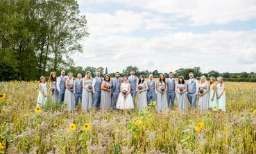 Mismatched Colourful Wildflower Meadow Wedding Hush Venues Norfolk http://lighteningphotography.co.uk/