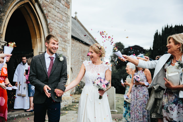 Katya Katya Shehurina Dress Cap Sleeve Lace Overlay Bouquet Wild Flowers Tweed Jacket Chinos Mismatched Groom Confetti Relaxed Natural Local Country Marquee Wedding http://francescahillphotography.com/