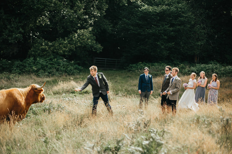 Katya Katya Shehurina Dress Cap Sleeve Lace Overlay Chinos Groom Mismatched Groomsmen Relaxed Natural Local Country Marquee Wedding http://francescahillphotography.com/