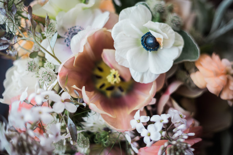 Anemone Pink Wax Flower Spring Floral Polytunnel Sunny Wedding Colstoun House Scotland http://solenphotography.co.uk/