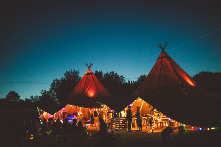 Evening Lighting Lights Relaxed Country Tipi Yellow Wedding Hampshire https://photography34.co.uk/