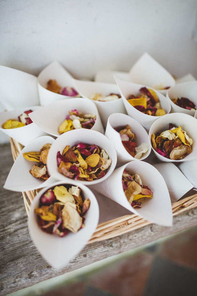 Petal Confetti Cones Relaxed Country Tipi Yellow Wedding Hampshire https://photography34.co.uk/