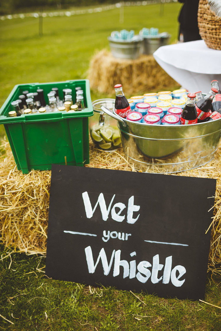Drinks Bar Self Service Buckets Relaxed Country Tipi Yellow Wedding Hampshire https://photography34.co.uk/