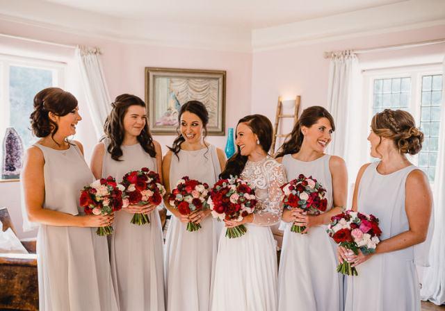 Grey Bridesmaid Dresses Raucous Artistic Wintry Wedding Voewood Norfolk https://www.luisholden.com/