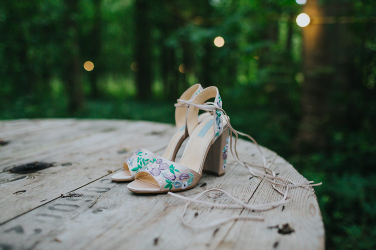 Hand Painted Floral Shoes Bride Bridal Angrove Park Tipi Wedding Yorkshire Bloom Weddings