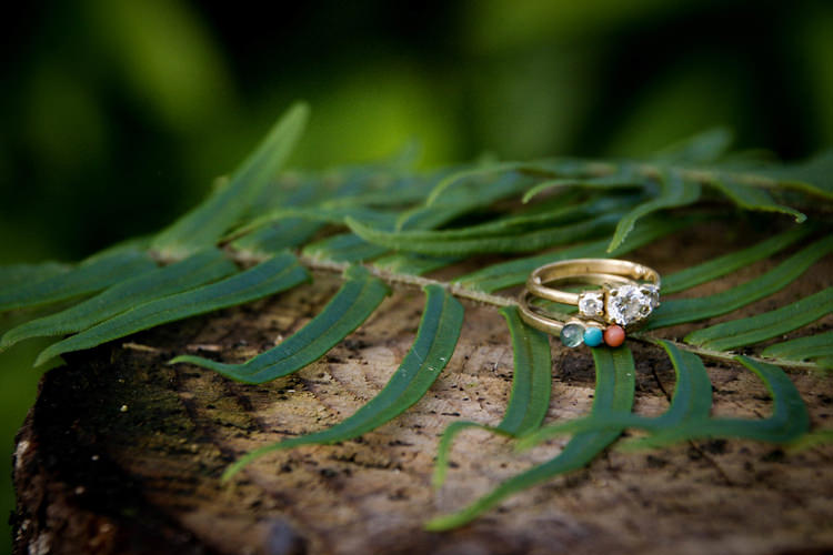 Outdoor Destination Luxury Adventure Ubud Ceremony Tropical Colorful Stone Rings | Whimsical Exotic Tropical Jungle Wedding Bali http://www.cecilephotographybali.com/