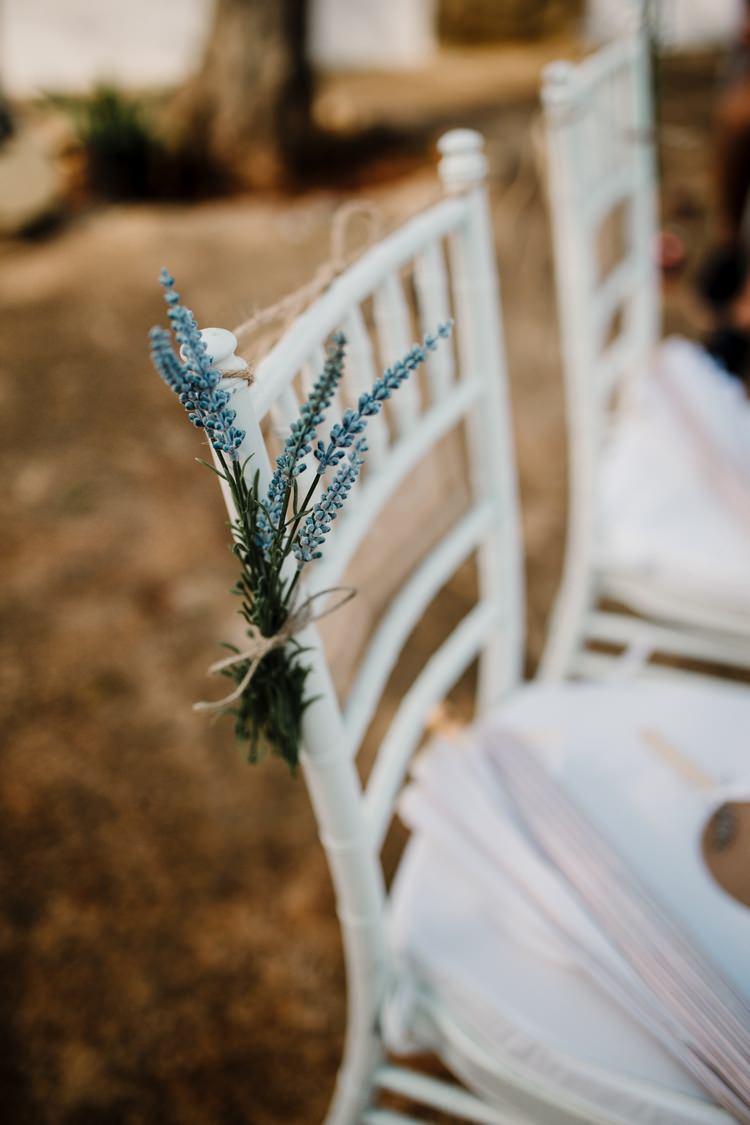 Spain Sun Outdoor Tropical Mediterranean Garden Villa Outdoor Ceremony Flowers Chiavari Chairs | Ibiza Destination Wedding Amy Faith Photography