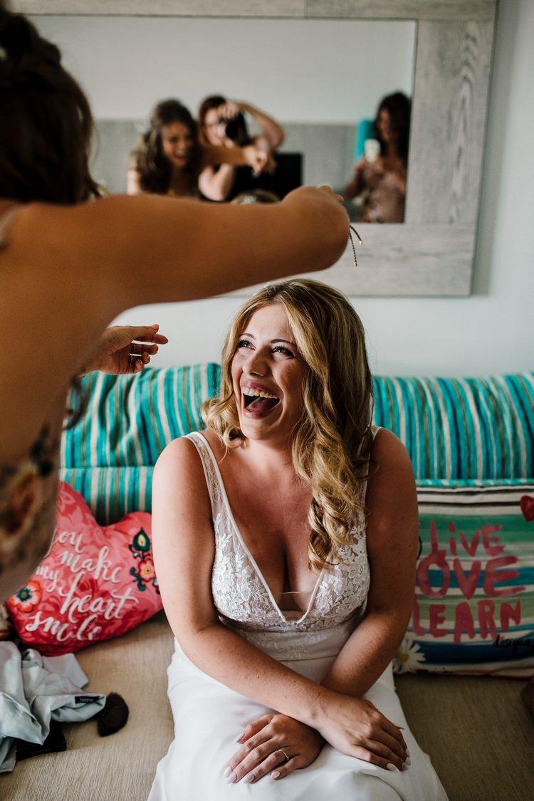 Spain Sun Outdoor Tropical Mediterranean Garden Villa Bride Dress Morning Prep | Ibiza Destination Wedding Amy Faith Photography