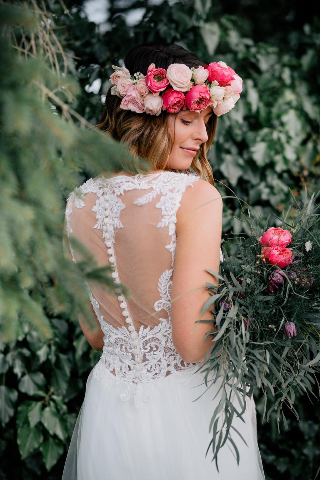Illusion Lace Dress Gown Bride Bridal Lapstone Barn Wedding Ideas Cotswolds Katie Hamilton Photography