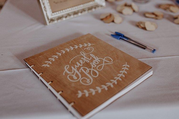 Wooden Guest Book North Hidden Barn Wedding Autumn Jen Marino Photography
