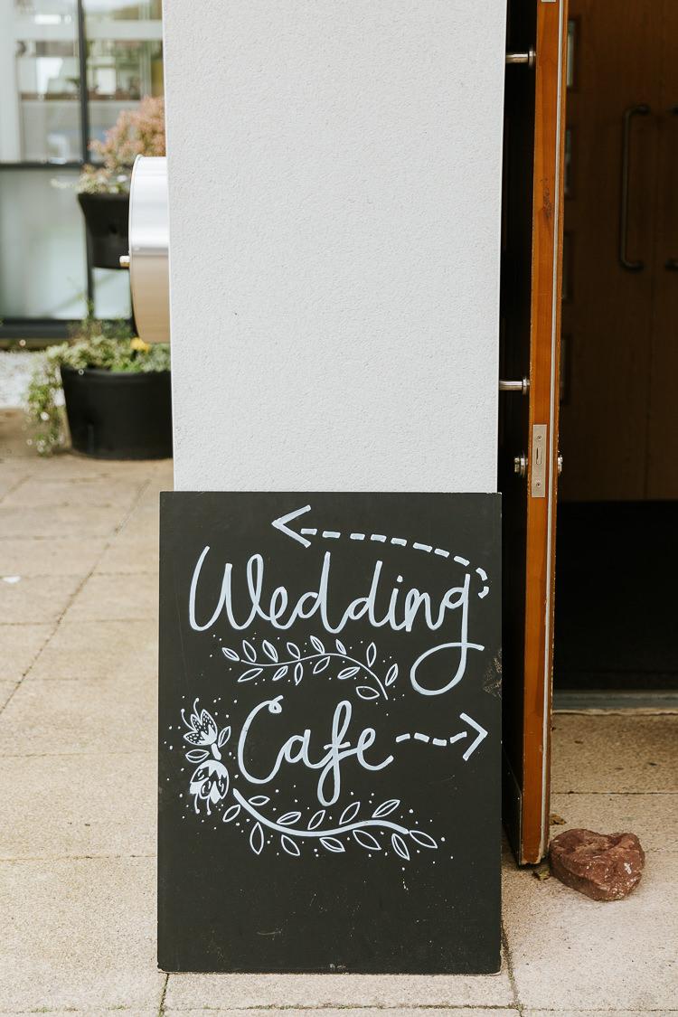 Chalk Board Black Calligraphy Sign Pretty Pastel Floral Village Hall Wedding Struve Photography