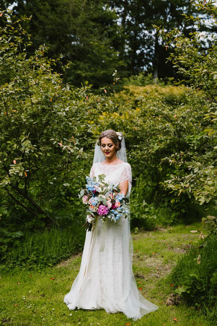 Jenny Packham Venetia Dress Gown Bride Bridal Larchfield Estate Wedding Honey and the Moon Photography