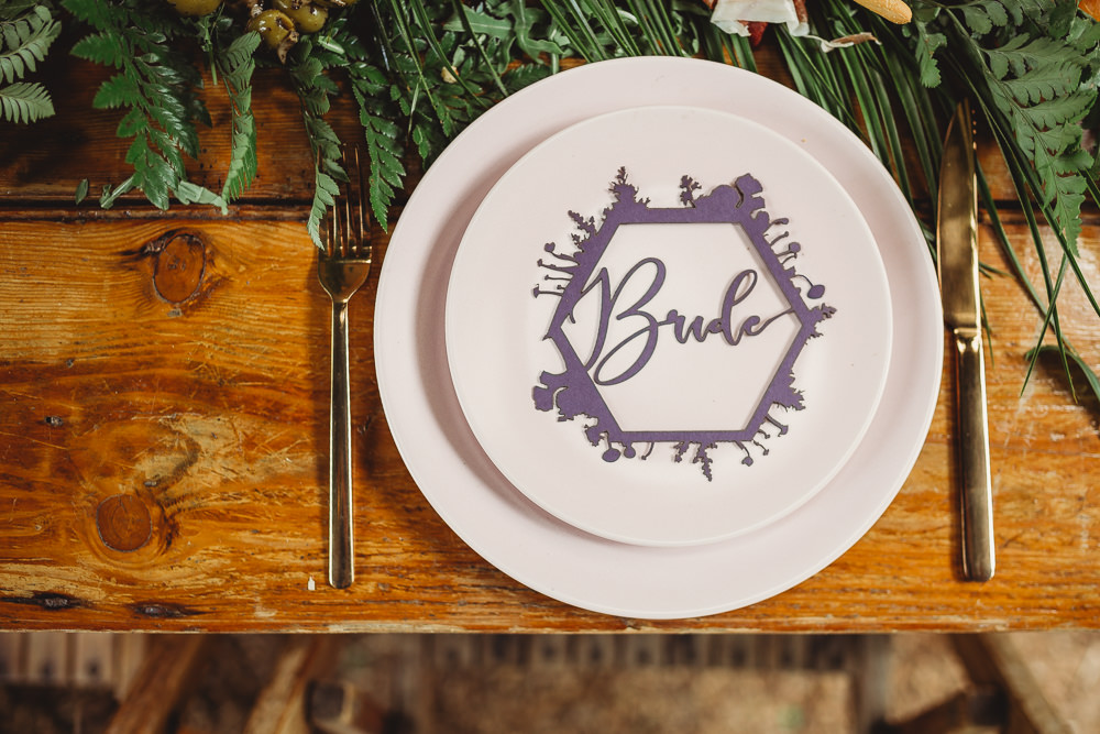 Laser Cut Bright Colourful Stationery Place Name Arnos Vale Weddings Ideas When Charlie Met Hannah Photography