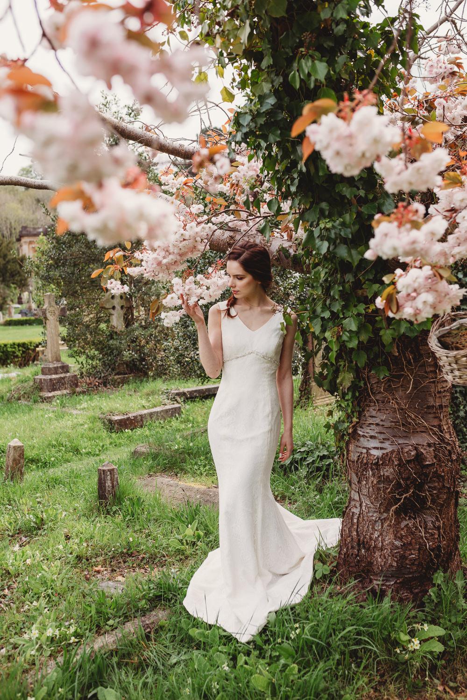 Dress Gown Bride Bridal Lace Train Arnos Vale Weddings Ideas When Charlie Met Hannah Photography