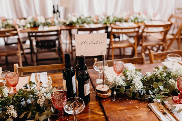 Marble Calligraphy Table Names Creative Hertfordshire Barn Boho DIY Wedding Beard and Mane Photography