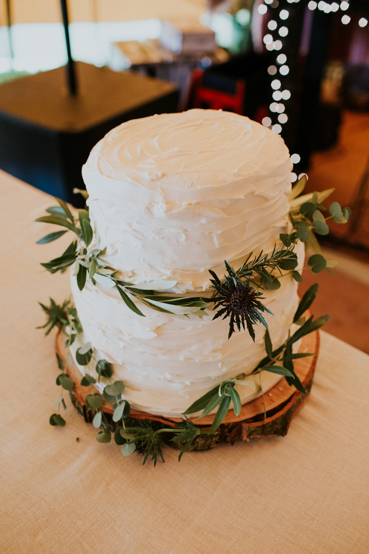 Rustic Buttercream Cake Greenery Devon Garden Wedding Tipi Freckle Photography