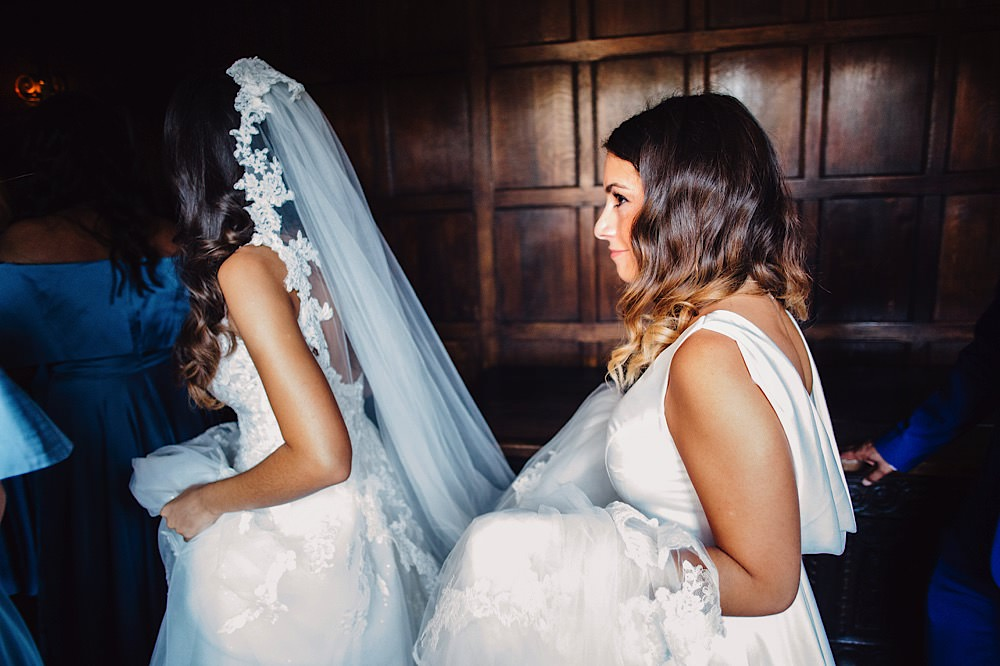 Lace Edge Veil Bride Bridal Great Fosters Wedding Roo Stain Photography