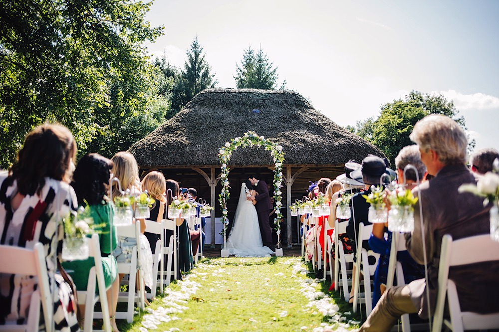 Flower Arch Backdrop Outdoor Garden Ceremony Great Fosters Wedding Roo Stain Photography