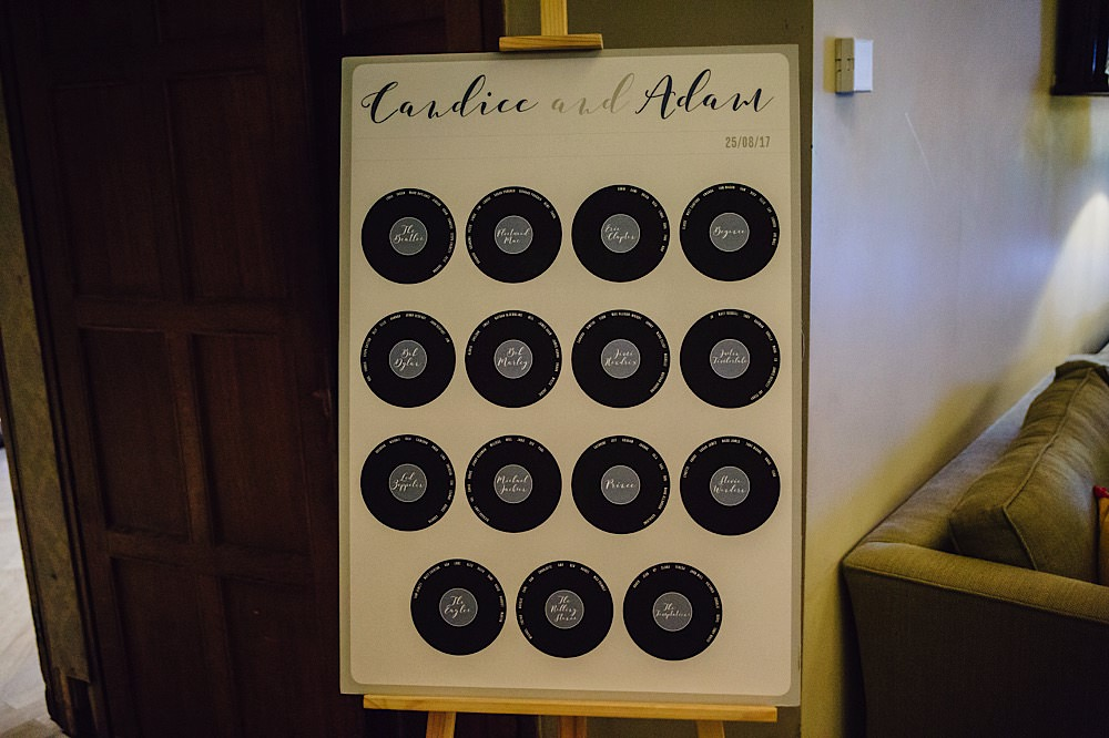 Records Music Seating Plan Table Chart Great Fosters Wedding Roo Stain Photography