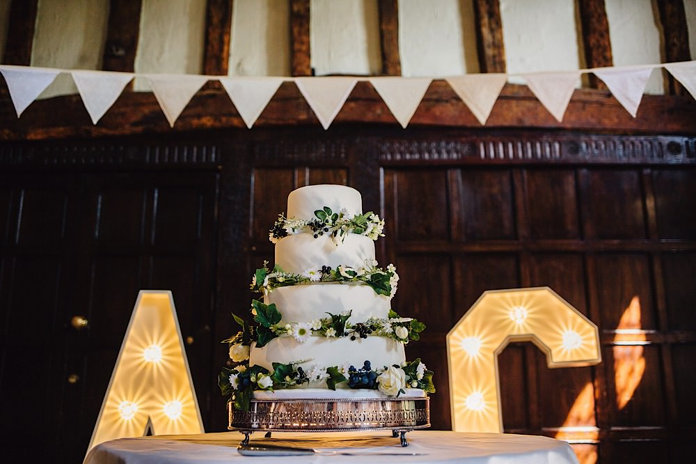 Iced Cake Greenery Foliage Great Fosters Wedding Roo Stain Photography